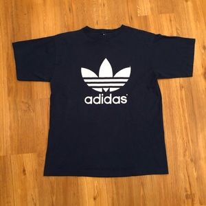 Vintage 90s Adidas Trefoil Logo Tee Double Sided